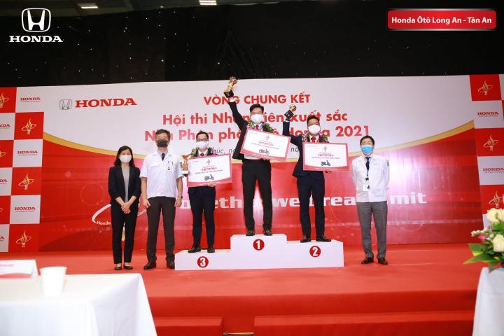 Đại diện Honda Ô tô Long An đạt giải nhì Hội thi Nhân viên xuất sắc - Nhà phân phối Ôtô Honda năm 2021