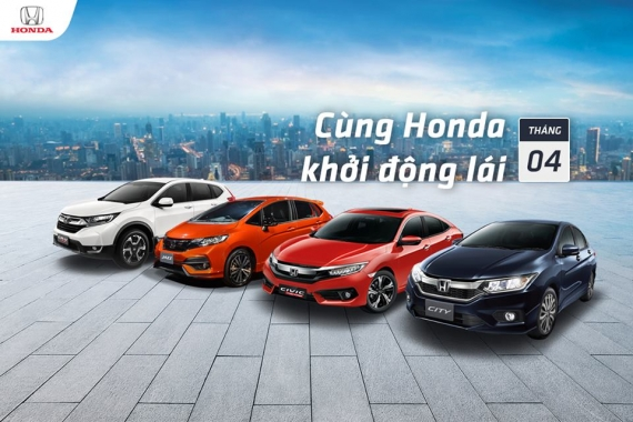 Lịch lái thử các dòng xe Honda Ôtô Tháng 04/2018