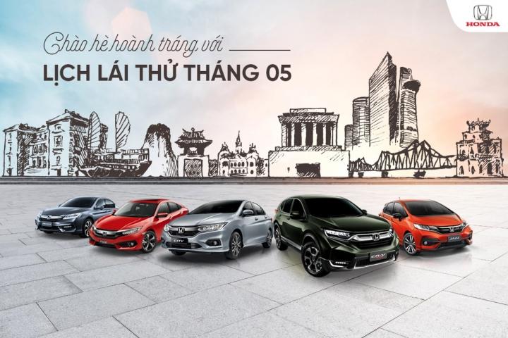 Lịch lái thử các dòng xe Honda Ôtô Tháng 5/2018