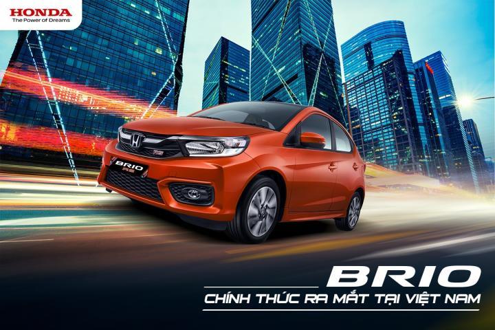 Honda Brio lần đầu tiên ra mắt tại Việt Nam với giá bán từ 418 triệu đồng